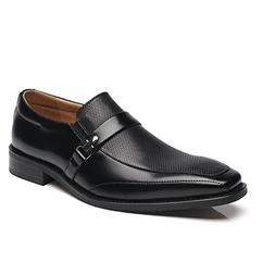 NXT NEW YORK Mens Slip On Buckle Loafer Moc Toe Oxford Shoes