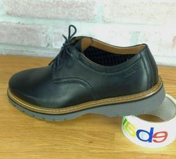 Clarks Newkirk Plain Black Leather Dress Shoe Men's Size 8M