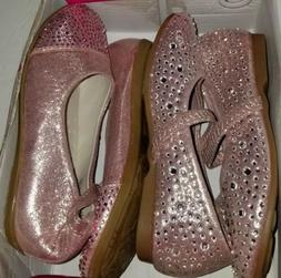 NIB Dream Pairs By Toetos Toddler Girls Shiny Pink Dress Sho