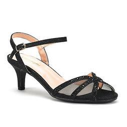 DREAM PAIRS Women's Low High Heels Sandals Ankle Strap Ladie