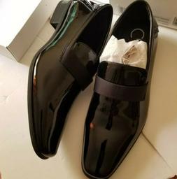 NWOB Calvin Klein Bernard Black Vegan Patent Leather Dress L