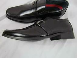 NWOT Good Fellas Boys Dress Shoes Sz 4 Slip On Leather Linin