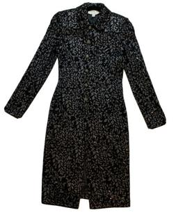 NWT St John Evening Midi Dress Size 2 Long Sleeve Knit Sequi