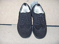 NWT TODDLER BOY SHOE SIZE 8  BABY GAP  BLACK SUEDE WINGTIP O
