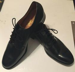 STETSON Old Masters Vintage Black Plain Toe Dress Shoes-Neve