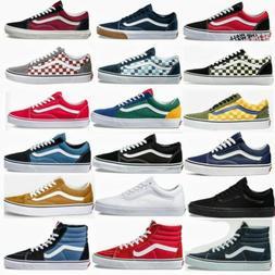 Vans OLD SKOOL /SK8 HI Unisex Skate Sneakers Casual Canvas F