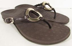 Orthaheel by Vionic Yolanda Women US 11 Brown Thong Sandal