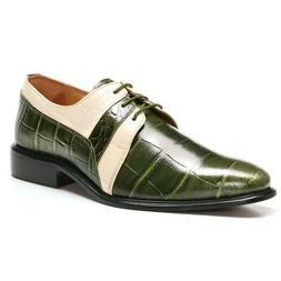 LIBERTYZENO Oxford Dress Shoes for Men Genuine Leather Croco