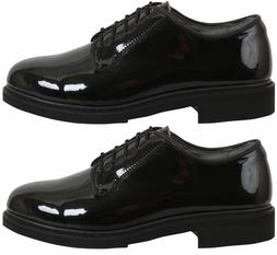 Oxford dress shoes uniform high gloss black Rothco 5055 vari