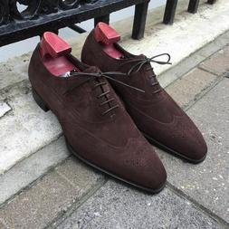 Oxfords Suede Leather Dress Shoes Handmade Casual Formal Sue