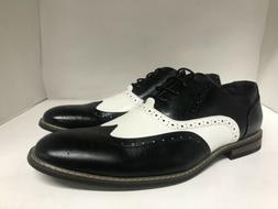 Parrazo of New York Wooden 08 Oxford Dress Shoe Black/White