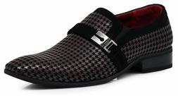 Enzo Romeo Plum05 Men'S Dress Loafers Elastic Slip On With B