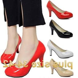 Plus size Women's High Heel Office Shoes Pointed Toe Busines