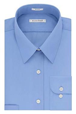 Van Heusen Men's Poplin Regular Fit Solid Point Collar Dress