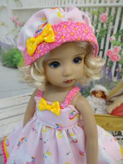 """Pretty Unicorn - dress, hat, tights & shoes for 13"""" Effner L"""