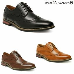 Bruno Marc Prince Mens Classic Formal Modern Wingtip Lace Up
