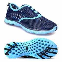 Aleader Women's Quick Drying Aqua Water Shoes Blue 7.5 D US-