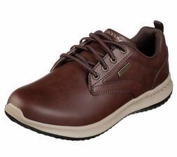 Skechers Red Brown shoe Men Memory Foam Dress Casual Comfort