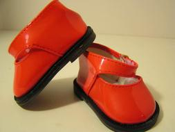 """Red Patent Leather Dress Shoes  made for  15"""" & 18"""" American"""