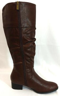 Lane Bryant Riding Boots Shoes Womens 8 Brown Leather Slouch