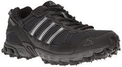 adidas Men's Rockadia Trail M Running Shoe, Black/Black/Dark