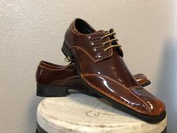 Amali Rust Brown Dress Shoes New School Style Men's Size 1