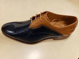 savion men s oxford navy multi leather