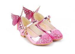 Shoes For Girls Dress Wedding Rhinestone Butterfly High Heel