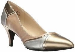 Annie Shoes Women's Devine W Dress Pump, Metallic/Multi, Siz