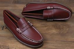 Size 5-12 New Brown Leather Slip On Penny Loafers Casual Dre