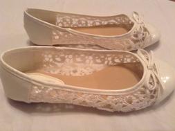 Size 6.5 Karyns Collection shoes white dress flat ballet sho