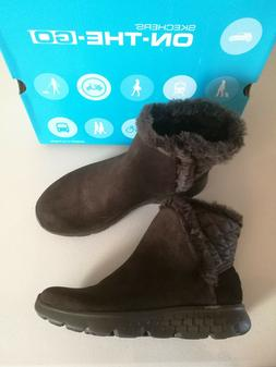 Size 7 Skechers On The Go 400 Cozies Women Suede Ankle Boots