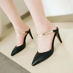 Size US 4-12 Women's Pointed Toe Sandals Slippers High Heel