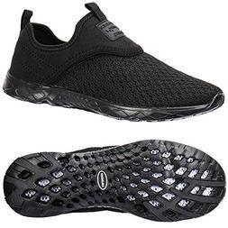 ALEADER Men's Slip-on Athletic Water Shoes Black/Blk 9.5 D U