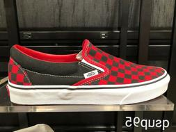 Vans Slip On Checkboard Classic Checkerboard Red Black Size