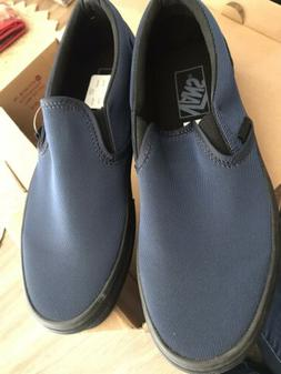 Vans Slip-On Metallic Twill Shoes Dress Blue Mens 7 Women'