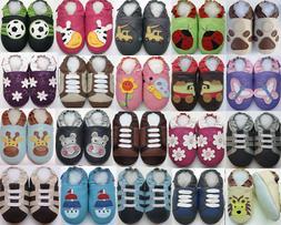 Minishoezoo Slippers soft sole Leather Boy Girl Unisex Shoes