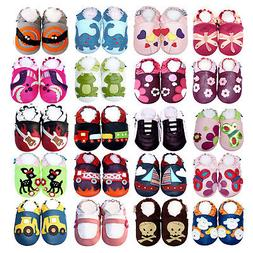 Soft Sole Leather Baby Shoes Boy Girl Prewalk Infant Toddler