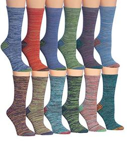 Tipi Toe Women's 12-Pairs Vintage Space Dye Fashion Marled D