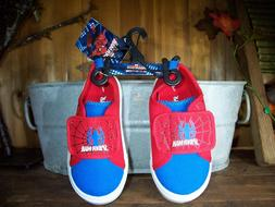MARVEL SPIDERMAN BOYS TODDLER CASUAL SHOES SIZE 9 COLOR RED
