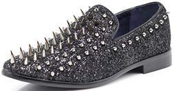 SPK16 Men's Vintage Spike Dress Loafers Slip On Fashion Shoe