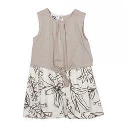 Spring Girls Flower Dress for Babies & Toddlers, Grey