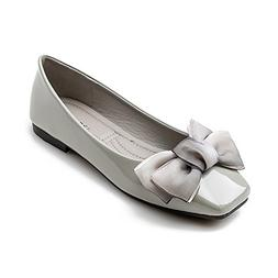 Meeshine Womens Square Toe Bowknot Ballet Flats Comfort Slip