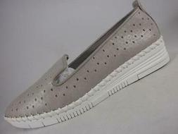 St Johns Bay Oda Gray Women's sz 7 wide Loafers Comfort Flat