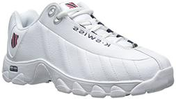 K-Swiss Men's ST329 CMF Training Shoe, White/Navy/Red, 10 M