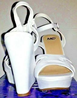 Chelsea Moreland Studio Womens Wedge Dress Shoes Size 9W Whi