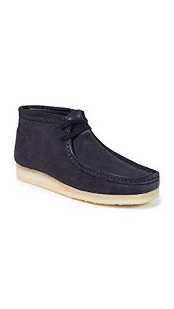 CLARKS Men's Suede Wallabee Boots, Dark Blue, 11 M US