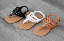 Summer Girls Toddler Rhinestone Buckle Dress Party Sandals S