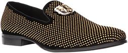 STACY ADAMS Men's Swagger Studded Ornament Slip-On Driving S
