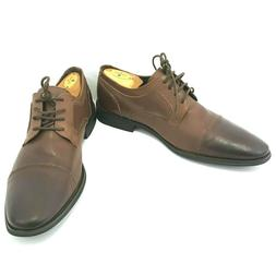Asher Green Sz 10 Brown Cap Toe Oxford Leather Dress Shoes M